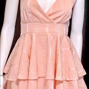 Women's cute pink mini dress